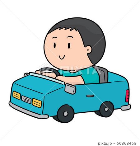 vector of man driving car 50363458