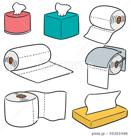 vector set of tissue papers 50363496