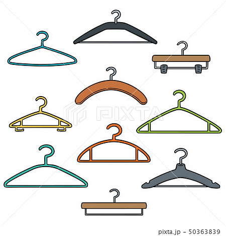 vector set of hangers 50363839