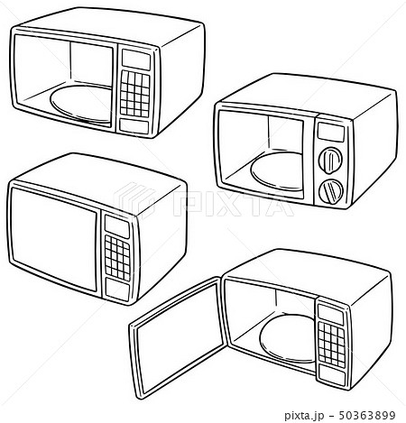 vector set of microwave oven 50363899