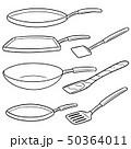 ベクトル フライパン 鍋のイラスト 50364011