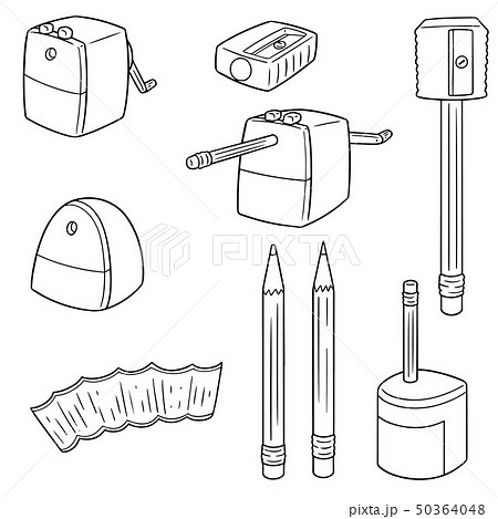 vector set of pencil sharpener 50364048