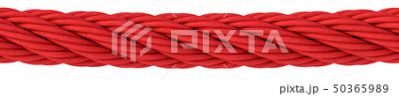 red rope on white background. 50365989