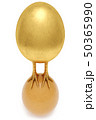 golden egg with golden chicken feet is on the chicken egg. concept of domination and success 50365990