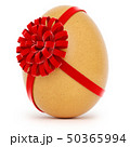 Realistic Easter egg with a big bow on white background 50365994
