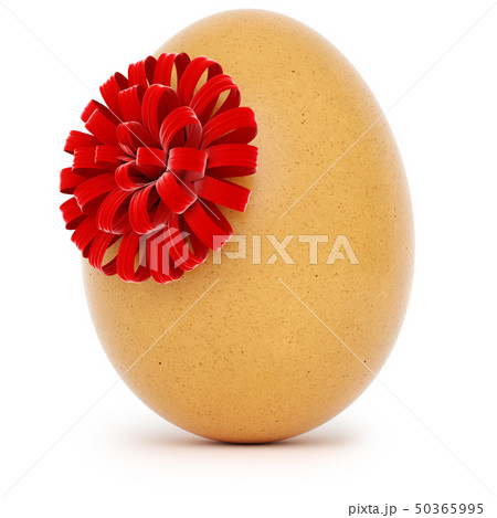 Realistic Easter egg with a big bow 50365995