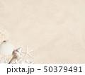 背景-海-夏-ビーチ-貝殻-砂 50379491