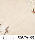 背景-海-夏-ビーチ-貝殻-砂 50379495