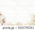 背景-海-夏-ビーチ-貝殻-砂-ウッドデッキ-白木 50379591