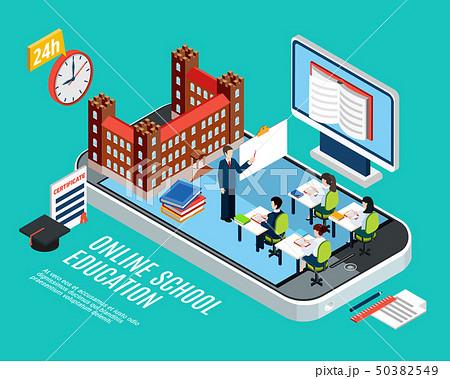Education Isometric Concept 50382549