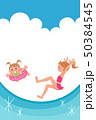 ベクター 女の子 水着のイラスト 50384545