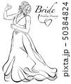 嫁 花嫁 ウェディングドレスのイラスト 50384824