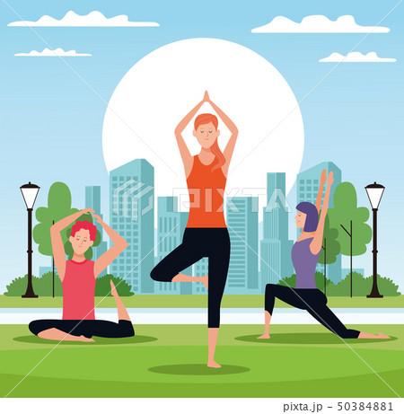 people doing yoga 50384881