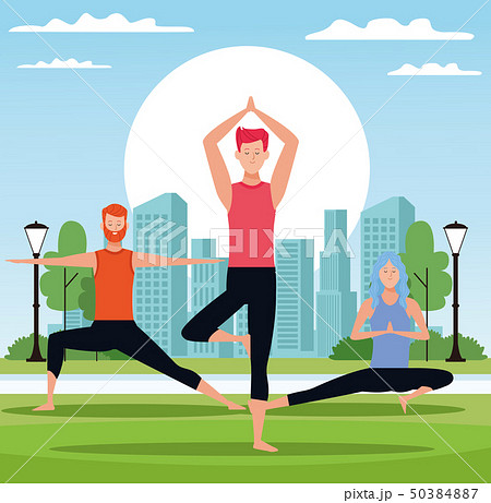 people doing yoga 50384887