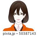 秋服の女性 / 真顔 50387143