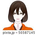 秋服の女性 / 困り顔 50387145