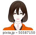 秋服の女性 50387150