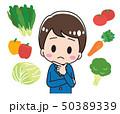 野菜 悩む 高校生のイラスト 50389339