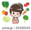 野菜 悩む 考えるのイラスト 50389340