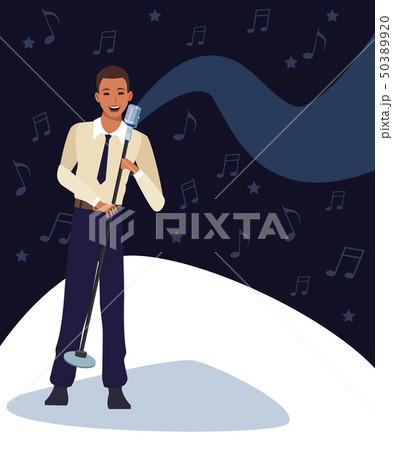 Musician artist cartoon 50389920
