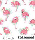 フラミンゴ 鳥 ピンクのイラスト 50390096