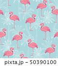 フラミンゴ 鳥 ピンクのイラスト 50390100
