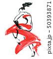 Flamenco. Beautiful Dancing Woman 50393871