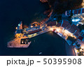 Aerial view of the town of Petrovac at dusk 50395908