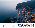 Aerial view of the town of Petrovac at dusk 50395914