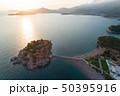 Aerial view of Sveti Stefan island in Budva 50395916