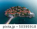 Aerial view of Sveti Stefan island in Budva 50395918