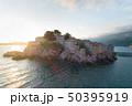 Aerial view of Sveti Stefan island in Budva 50395919