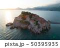 Aerial view of Sveti Stefan island in Budva 50395935
