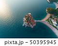 Aerial view of Sveti Stefan island in Budva 50395945