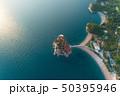 Aerial view of Sveti Stefan island in Budva 50395946