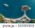 Aerial view of Sveti Stefan island in Budva 50395950