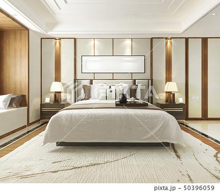 luxury modern bedroom suite in hotel 50396059