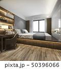 ベッド 寝室 机のイラスト 50396066