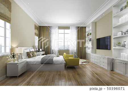 contemporary wood bedroom with built in bookshelf 50396071
