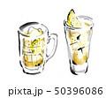 飲み物・お酒、お酒、飲み物、ハイボール、ウィスキー、炭酸、カクテル、アルコール、ドリンク、白バック、 50396086