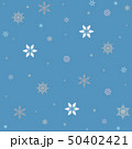 Snowflakes - raster pattern on a blue background 50402421