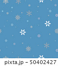 Seamless pattern with snowflakes on blue background 50402427