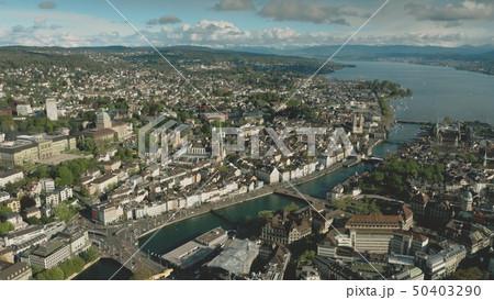 Aerial shot of Zurich, Switzerland 50403290