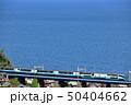 海を見下ろす鉄橋を渡る東海道線特急スーパービュー踊り子号 50404662