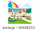 夏の浜辺 海水浴 50406251