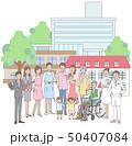 介護と病院と関係する人たち 50407084
