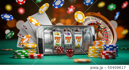 Online casino. Smartphone or mobile phone 50409617