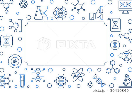 Science and Biological Engineering vector linear frame 50410349