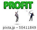 Profit concept with businessman on white 50411849