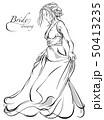 嫁 花嫁 ウェディングドレスのイラスト 50413235